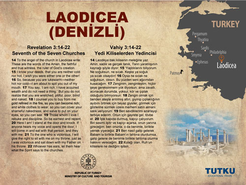 Laodicea Ancient City Map