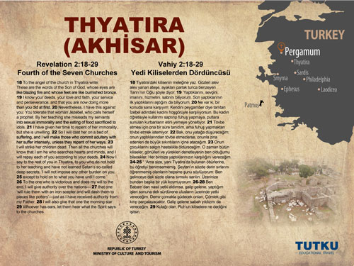 Thyatira Ancient City Map