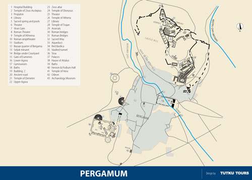 Pergamum Ancient City Map