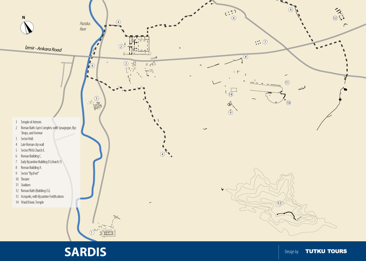 Sardis Ancient City Map