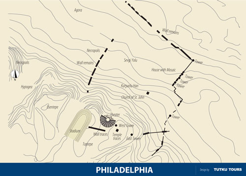 Philadelphia Ancient City Map